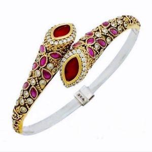Designer Ruby and Sterling Silver Bracelet